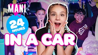 24 HOUR CHALLENGE OVERNIGHT IN A CAR (MANI CAST)??| Piper Rockelle