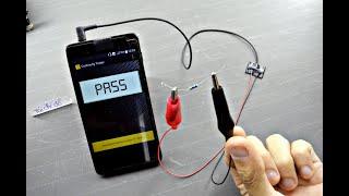 Cách chế thiết bị kiểm tra điện trở hiển thị điện thoại