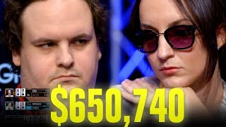 She BLUFFS ALL-IN With $650,740 At Stake! - Very Cool Poker Hand