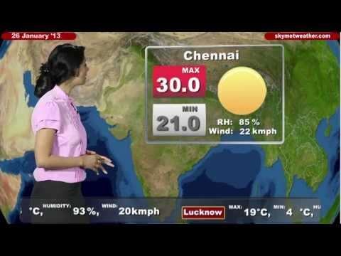 Skymet Weather Report - India January 26, 2013