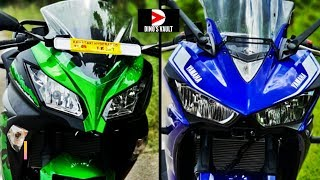 Yamaha R3 ABS vs Ninja 300 ABS Comparo Which is Better #Bikes@Dinos