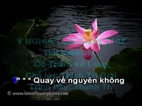 Ý Nghĩa Tâm Chân Như (Rất Hay) - Karaoke (Nhạc Phật Giáo chế lời)