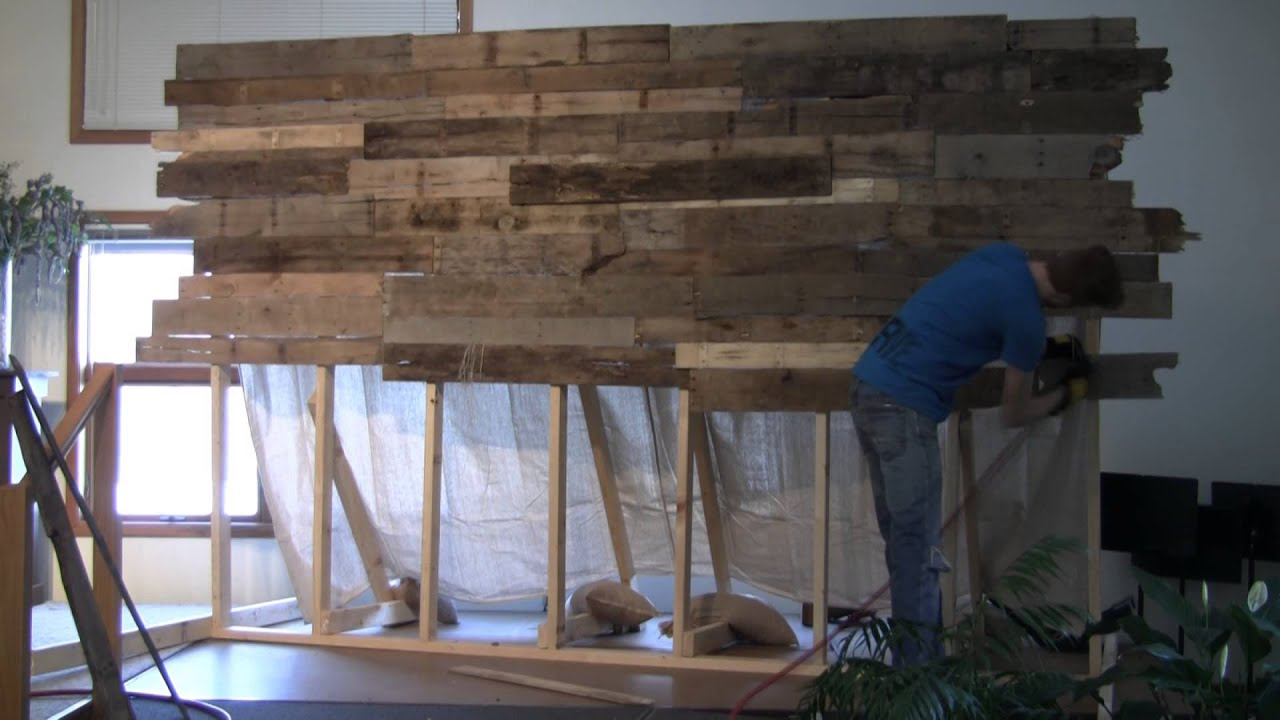 pallet wall easter 2013 youtube. Black Bedroom Furniture Sets. Home Design Ideas
