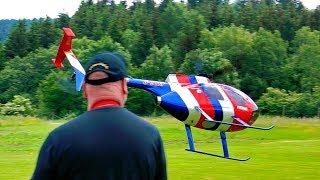 RC FLIGHT SCHOOL BERND PÖTING TEACHER AND STUDENT MODEL HELICOPTER PRESENTATION FLIGHT DEMONSTRATION