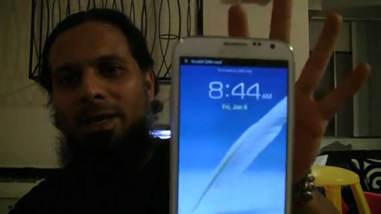 How to Unlock Samsung Galaxy Note 2(I317)by Unlocking code