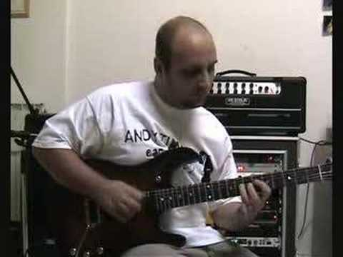 Marco Sfogli plays on a Larry Carlton style backing track