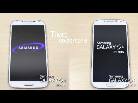 Samsung Galaxy S4 GT-I9500 and GT-I9505 boot up time comparison