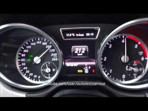 Mercedes ML250 CDI W166 0-100 0-200 0-210 vmax Beschleunigung Tachovideo Test