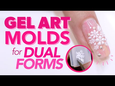 Perfect 3-D Gel Nail Art Every Time with Nail Art Molds for Dual Forms