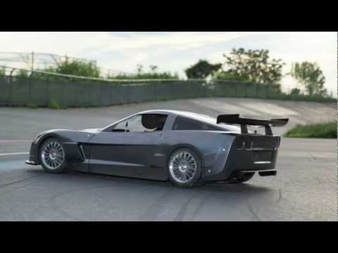 FG 1:5  RC large scale C6R Corvette with Sony A77 video test