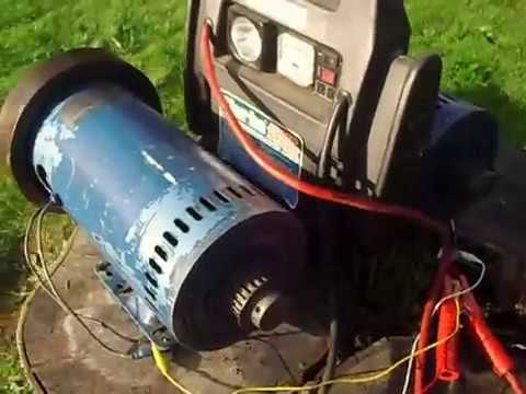 Treadmill motor -ideal home build wind. water or engine power generator