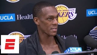 Rajon Rondo describes LeBron James' film session: He had whole team's attention | NBA Interviews
