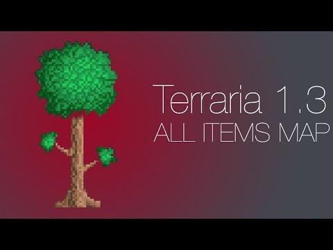 Terraria 1.3 All items Map!