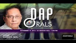 ORAL ARGUMENTS ON THE CONSTITUTIONALITY OF THE DISBURSEMENT ACCELERATION PROGRAM (DAP)