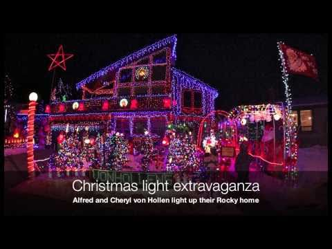 Massive, unbelievable Christmas light show in Rocky Mountain House Music Videos