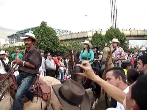 de las Flores Medellín Colombia 31 de julio de 2010. Horse Parade