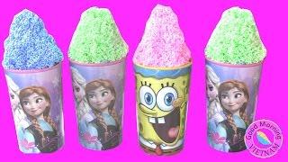 Video Đặc Biệt - Tìm Đồ Chơi Bất Ngờ Trong 5 Ly Kem Xốp  Frozen Elsa Anna Toys Surprise