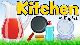 The kitchen in English - Vocabulary for English students