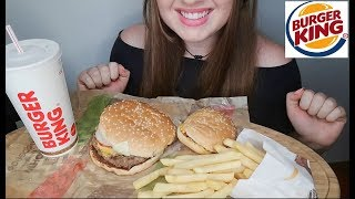 Burger King Double Whopper Chili Cheeseburger Fries  ASMR  Mukbang   *No Talking*