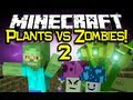 Minecraft: PLANTS VS ZOMBIES 2 MOD Spotlight! - Let's Battle! (Minecraft Mod Showcase)
