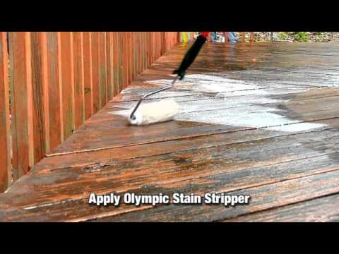 How To Remove Paint From A Paonted Deck