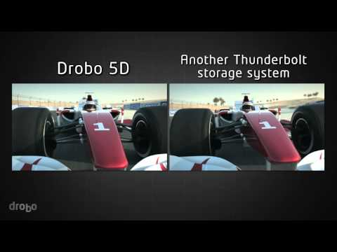 Streaming a Video from Drobo 5D vs. Another Thunderbolt Storage System