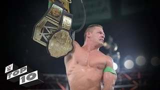 John Cenas Greatest World Title Triumphs WWE Top 10