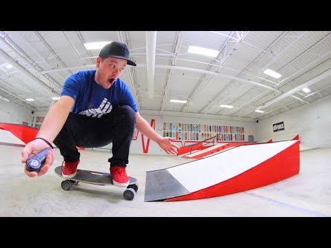 Electric Skateboard Vs Launch Ramp / Warehouse Wednesday