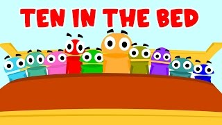 Ten in the bed | Nursery Rhyme with Lyrics | English rhymes for kids
