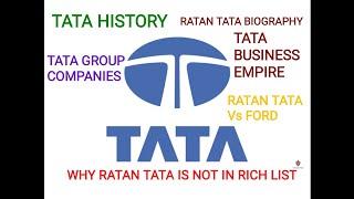TATA HISTORY || TATA SUCCESS STORY || RATAN TATA BIOGRAPHY