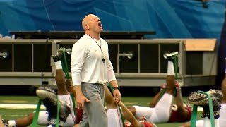 Alabama strength coach Scott Cochran gets fired up for Peach Bowl practice