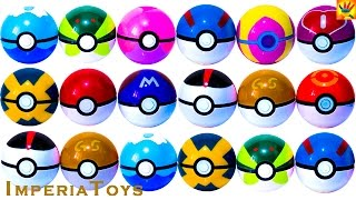 MANY BIG BALLS POKEMON SURPRISE! Pokeballs surprise unboxing eggs