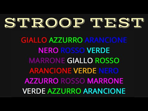 testing of the stroop effect in
