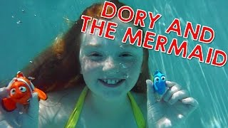Dory and Mia the Real Life Mermaid | Toy Review - Finding Dory Movie