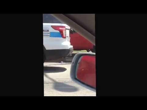 Chicago - small nissan pick up pole smash