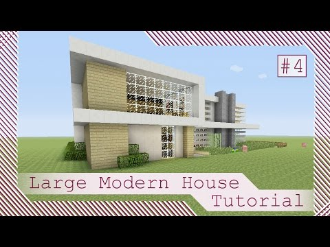 large modern house tutorial 4 minecraft xbox 360 xbox one ps3 ps4