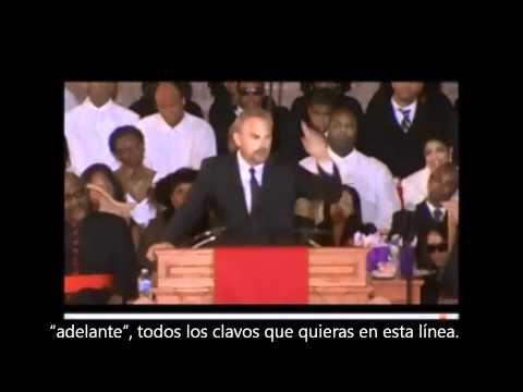 Kevin Costner funeral de Whitney Houston (Subtitulos español Part 1)