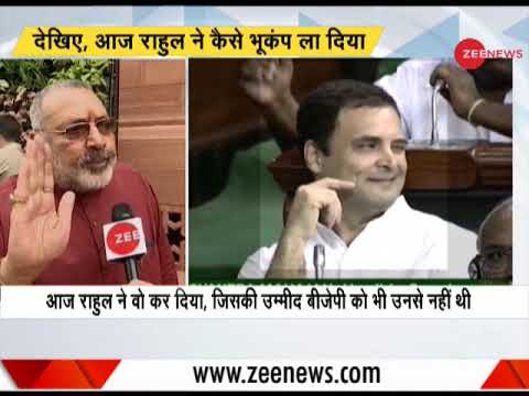 Rahul Gandhi has lowered the dignity of Parliament today: Giriraj Singh