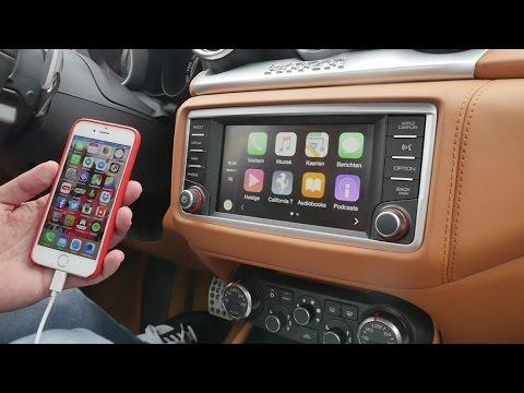 Apple CarPlay review in Ferrari California T