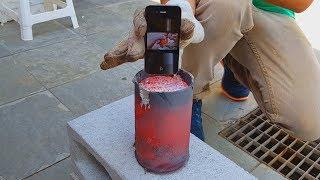 Mergulhando um Iphone no Alumínio Derretido !!!