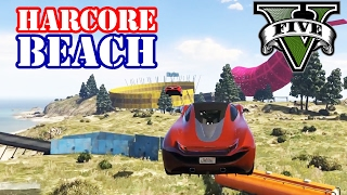 HARDCORE BEACH RACE (+DOWNLOAD) ★ GTA 5 Online Community Custom Map Race | PowrotTV