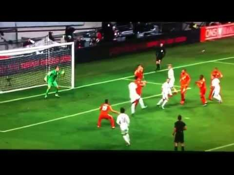 Robin van Persie puts header into own goal (Netherlands - Czech Republic)