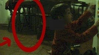 GHOST?  CHAIR MOVES BY ITSELF AND SCARES BABY!  REAL GHOST CAUGHT ON TAPE!
