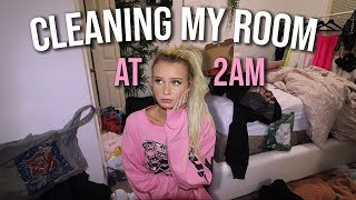 cleaning my nasty room at 2am..