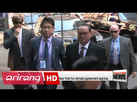 N. Korea's foreign minister in New York for climate deal signing
