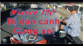Winner 150 bị dàn cảnh cướp xe trên QL1A | Thanh TN Motovlog