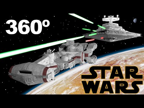 Star Wars A New Hope - Opening Scene - 360 VR Video