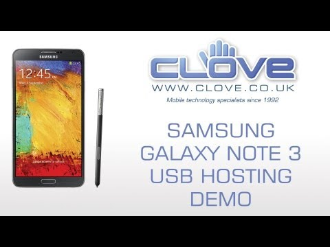 Samsung Galaxy Note 3 USB Hosting/OTG Demo