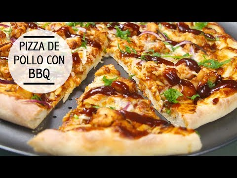 Pizza de pollo con BBQ!