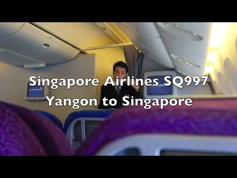 (HD) Singapore Airlines Boeing 777-200 Economy Class Flight Report: SQ997 Yangon to Singapore